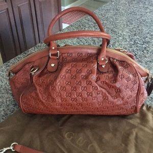 Gucci Sukey Monogrammed Convertible Boston Bag